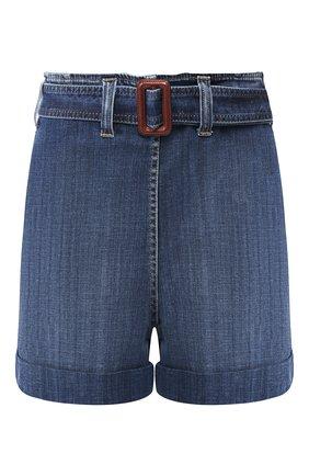 Женские джинсовые шорты BRUNELLO CUCINELLI синего цвета, арт. MH103P5442 | Фото 1