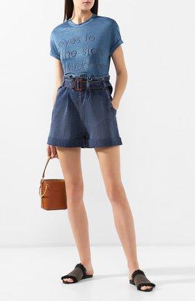 Женские джинсовые шорты BRUNELLO CUCINELLI синего цвета, арт. MH103P5442 | Фото 2