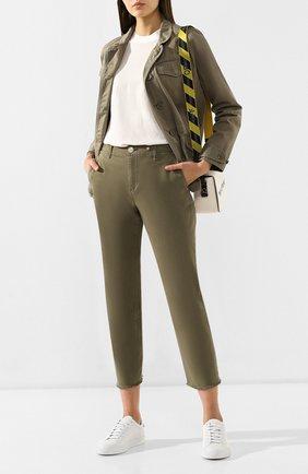 Женские джинсы RAG&BONE хаки цвета, арт. W29271442 | Фото 2