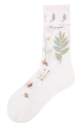 Женские хлопковые носки ANTIPAST белого цвета, арт. AM-706 | Фото 1