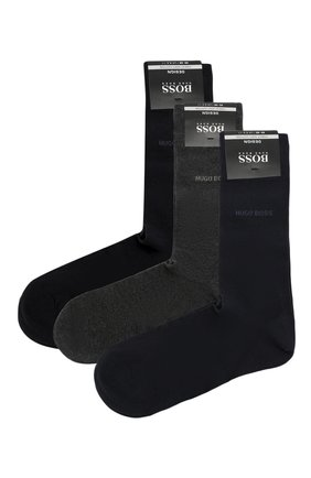 Комплект из трех хлопковых носков | Фото №1