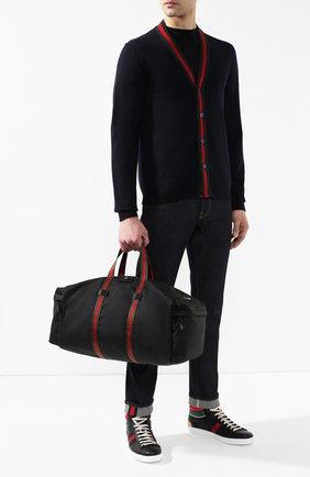 Мужская текстильная дорожная сумка techpack GUCCI черного цвета, арт. 450983/K1NET | Фото 2
