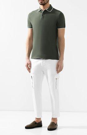 Мужские кожаные эспадрильи BOTTEGA VENETA темно-зеленого цвета, арт. 407387/V1EEN   Фото 2