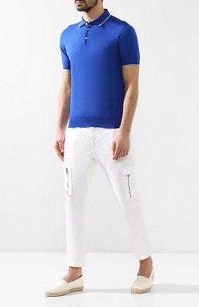 Мужские текстильные эспадрильи SAINT LAURENT белого цвета, арт. 549492/GUP00 | Фото 2
