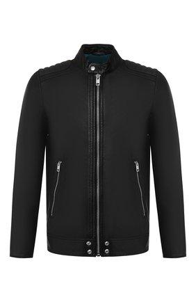 Кожаная куртка Diesel черная | Фото №1
