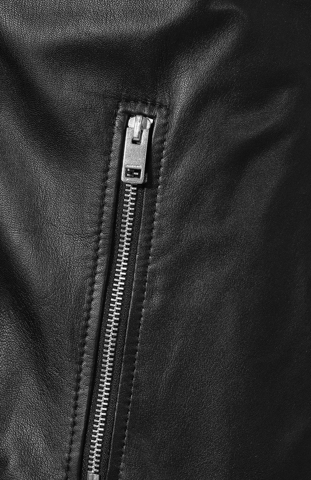 Кожаная куртка Diesel черная | Фото №5
