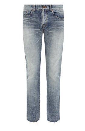 Мужские джинсы прямого кроя SAINT LAURENT синего цвета, арт. 551339/Y962T | Фото 1