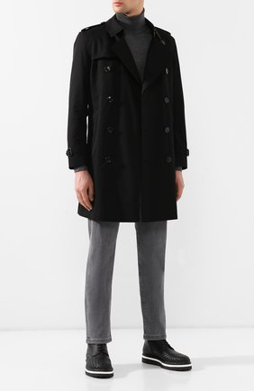 Мужские кожаные ботинки BOTTEGA VENETA черного цвета, арт. 548135/VBC90 | Фото 2