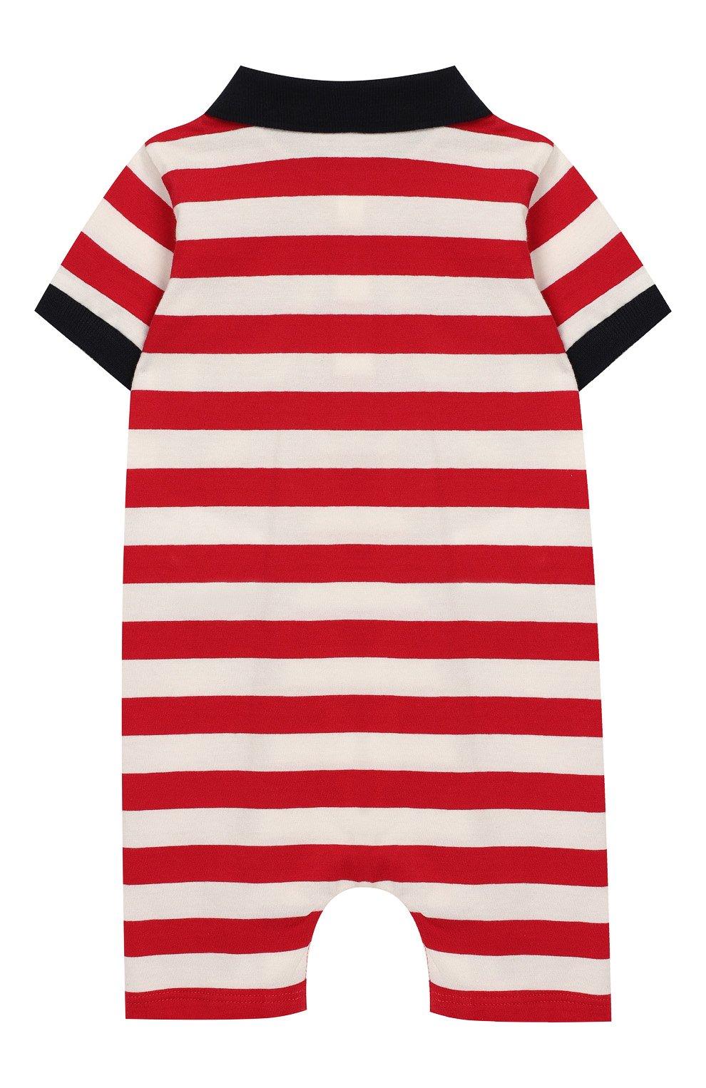 Детское хлопковый комбинезон MONCLER ENFANT красного цвета, арт. E1-951-85074-05-8391L | Фото 2