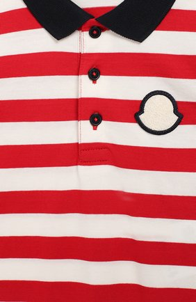 Детское хлопковый комбинезон MONCLER ENFANT красного цвета, арт. E1-951-85074-05-8391L | Фото 3