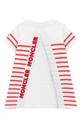 Женский хлопковое платье MONCLER ENFANT кораллового цвета, арт. E1-951-85740-05-V8026 | Фото 2