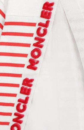 Женский хлопковое платье MONCLER ENFANT кораллового цвета, арт. E1-951-85740-05-V8026 | Фото 3