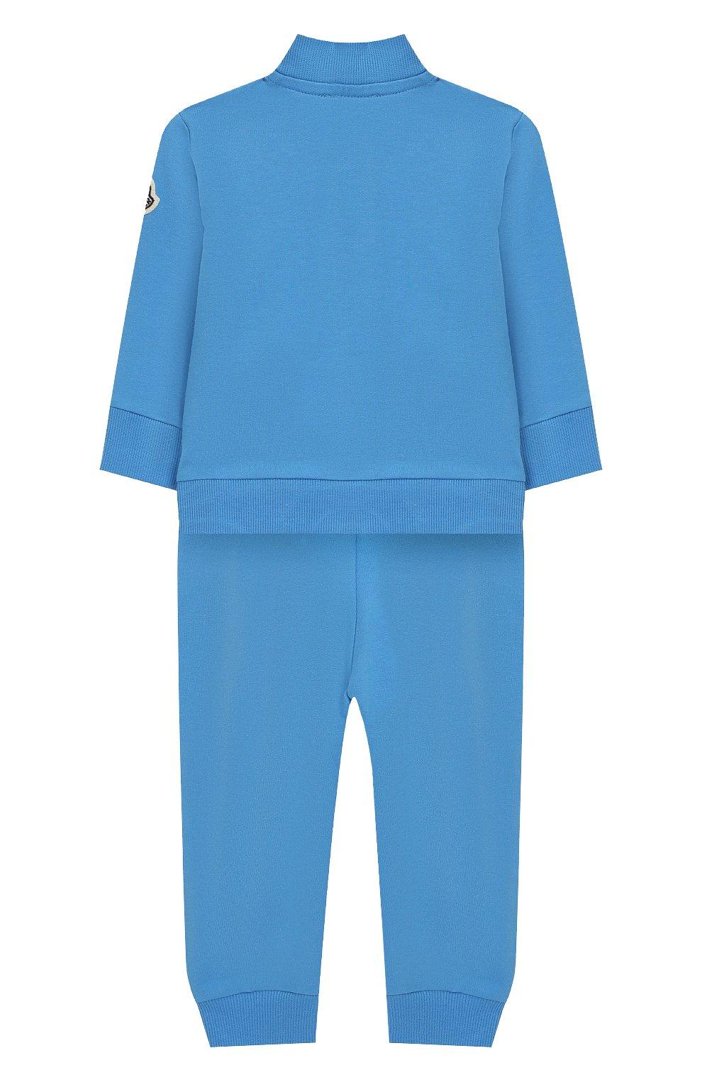 Детский комплект из хлопкового кардигана и брюк MONCLER ENFANT голубого цвета, арт. E1-951-88122-05-V8012 | Фото 2