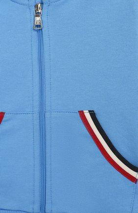 Детский комплект из хлопкового кардигана и брюк MONCLER ENFANT голубого цвета, арт. E1-951-88122-05-V8012 | Фото 3