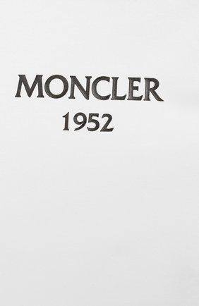 Детское комплект из хлопкового комбинезона и шапки MONCLER ENFANT белого цвета, арт. E1-951-88137-06-8790A | Фото 3