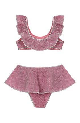 Детского раздельный купальник OSEREE розового цвета, арт. LFVS904 G/TW0 PIECE V0ILE LUREX | Фото 2