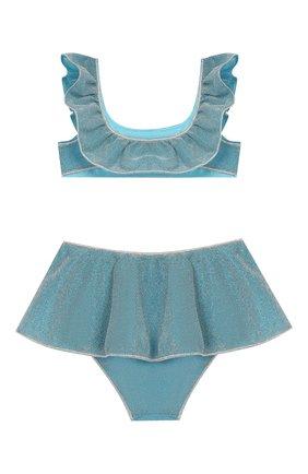 Детского раздельный купальник OSEREE голубого цвета, арт. LFVS904 G/TW0 PIECE V0ILE LUREX | Фото 2
