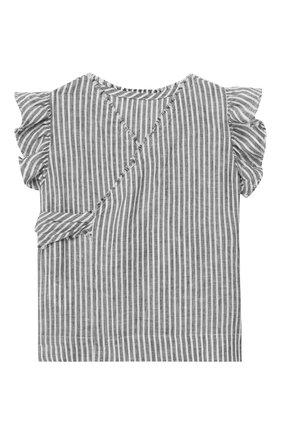 Детский льняной топ IL GUFO серого цвета, арт. P19CC051L1010/2A-4A | Фото 1
