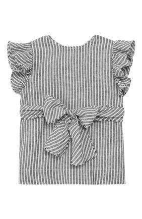Детский льняной топ IL GUFO серого цвета, арт. P19CC051L1010/2A-4A | Фото 2