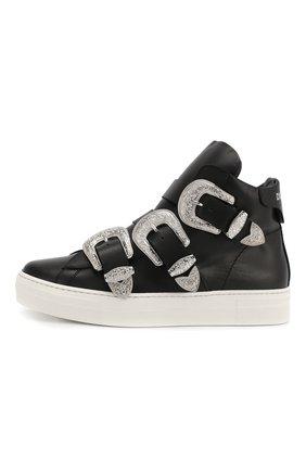 Кожаные ботинки с пряжками | Фото №2
