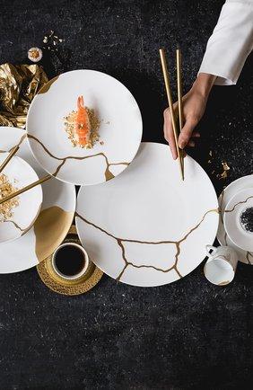 Мужского набор из 12 обеденных тарелок kintsugi BERNARDAUD белого цвета, арт. 1095/21259-2X6 | Фото 2