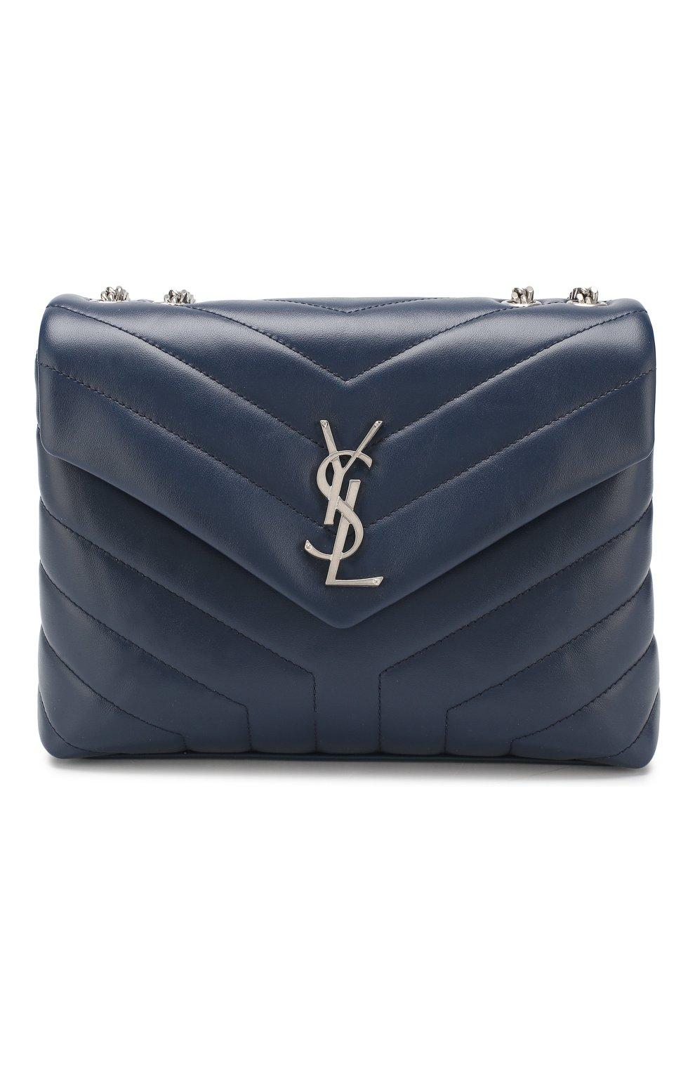 Женская сумка monogram loulou small SAINT LAURENT синего цвета, арт. 494699/DV726 | Фото 1
