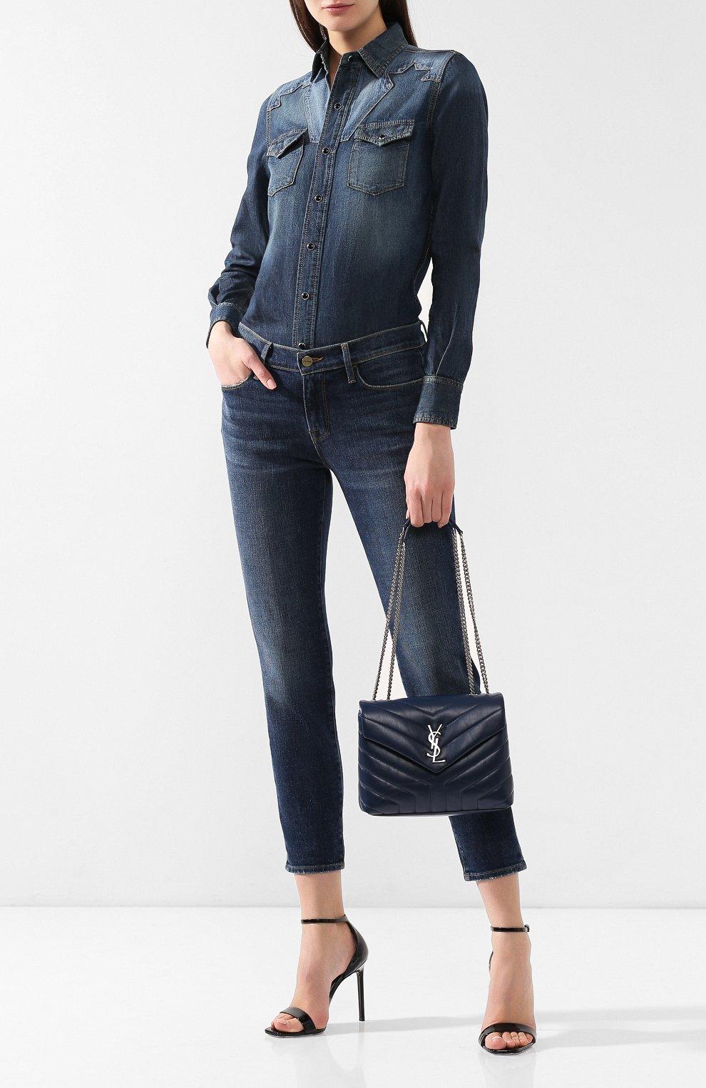 Женская сумка monogram loulou small SAINT LAURENT синего цвета, арт. 494699/DV726 | Фото 2