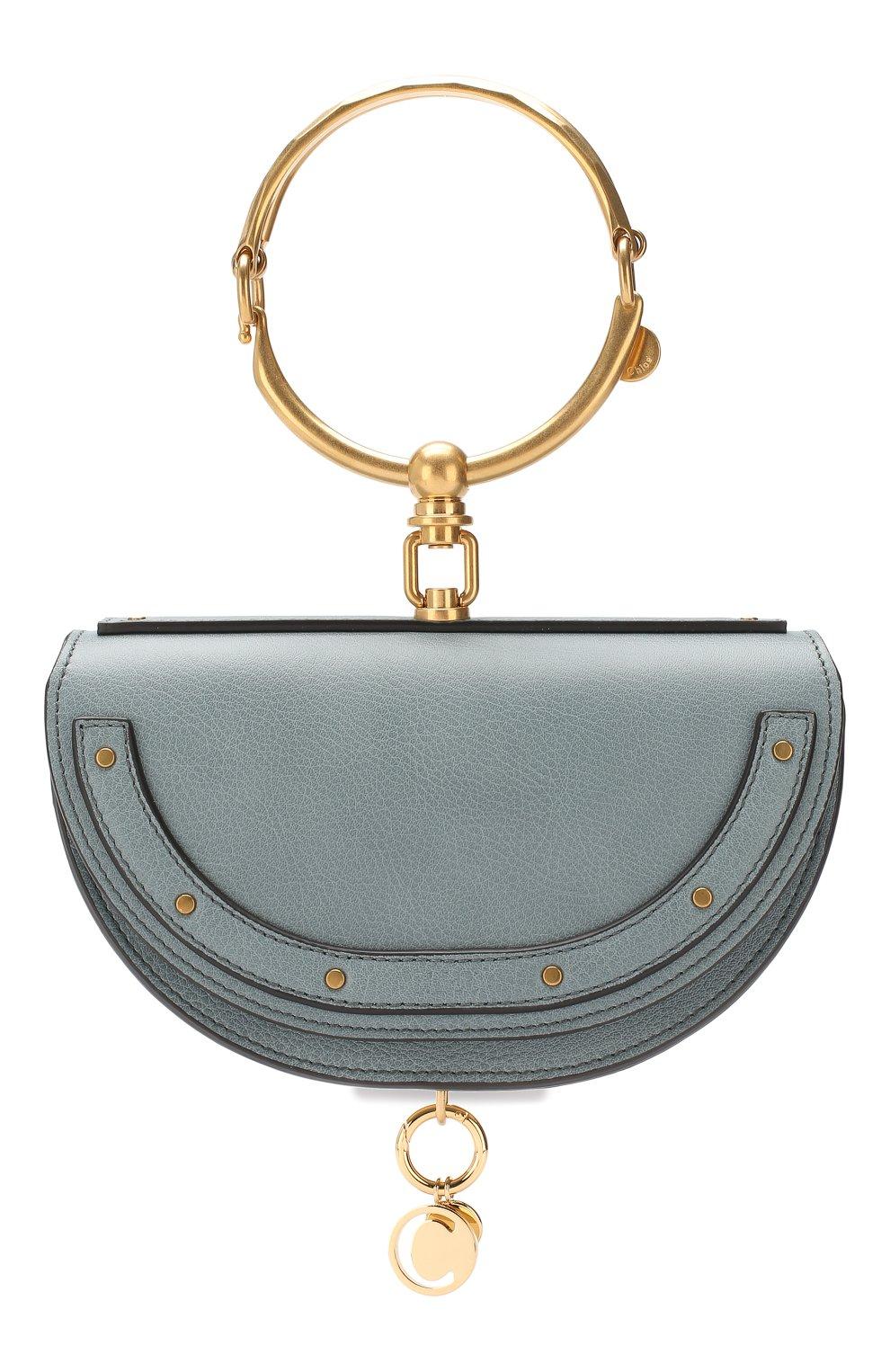 Женская сумка nile minaudière CHLOÉ голубого цвета, арт. CHC17US302H5H | Фото 1