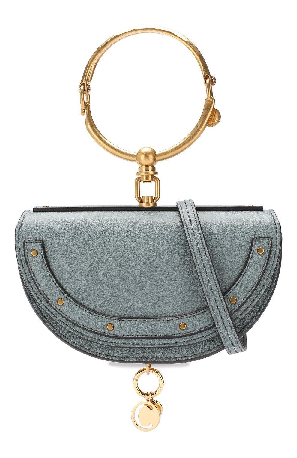 Женская сумка nile minaudière CHLOÉ голубого цвета, арт. CHC17US302H5H | Фото 6