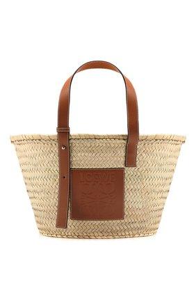 Женская сумка basket LOEWE бежевого цвета, арт. 327.02.S92 | Фото 1