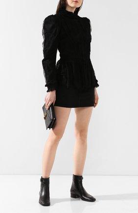 Женские кожаные ботинки miles SAINT LAURENT черного цвета, арт. 558249/0Z000 | Фото 2