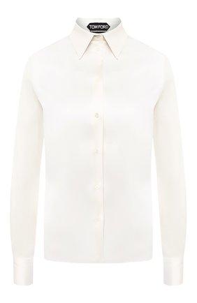 Женская шелковая рубашка TOM FORD кремвого цвета, арт. CA3100-FAX334 | Фото 1