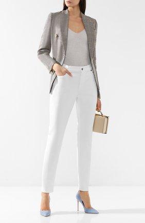Женские джинсы прямого кроя RALPH LAUREN белого цвета, арт. 290626691 | Фото 2