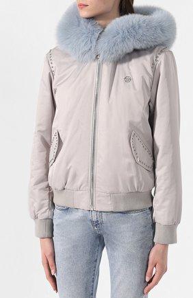 Куртка с меховой отделкой | Фото №3