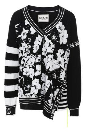 Пуловер из смеси хлопка и вискозы | Фото №1