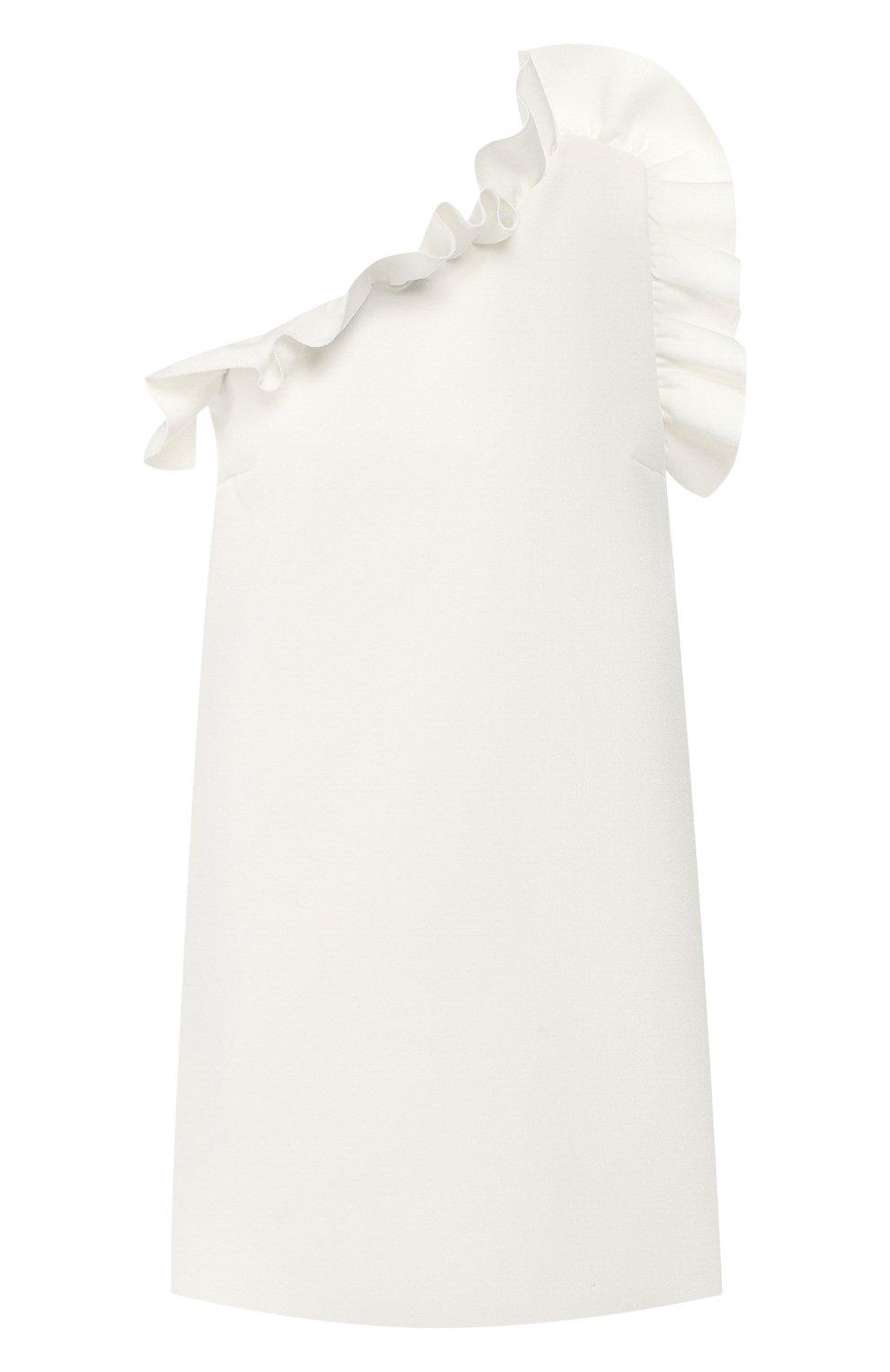 Женское платье с оборкой MSGM белого цвета, арт. 2641MDA165 195107 | Фото 1
