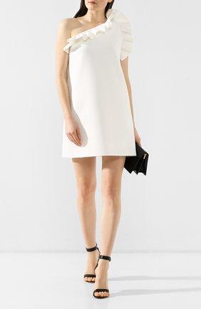 Женское платье с оборкой MSGM белого цвета, арт. 2641MDA165 195107 | Фото 2