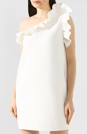 Женское платье с оборкой MSGM белого цвета, арт. 2641MDA165 195107 | Фото 3