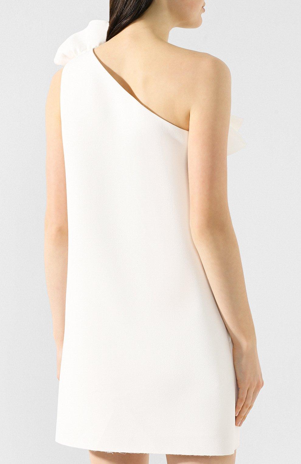 Женское платье с оборкой MSGM белого цвета, арт. 2641MDA165 195107 | Фото 4