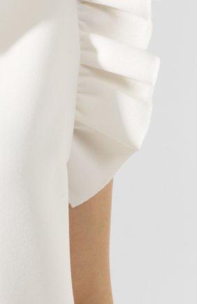 Женское платье с оборкой MSGM белого цвета, арт. 2641MDA165 195107 | Фото 5