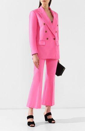 Хлопковый жакет MSGM розовый | Фото №2