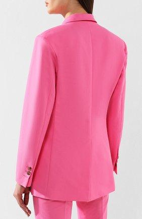 Хлопковый жакет MSGM розовый | Фото №4
