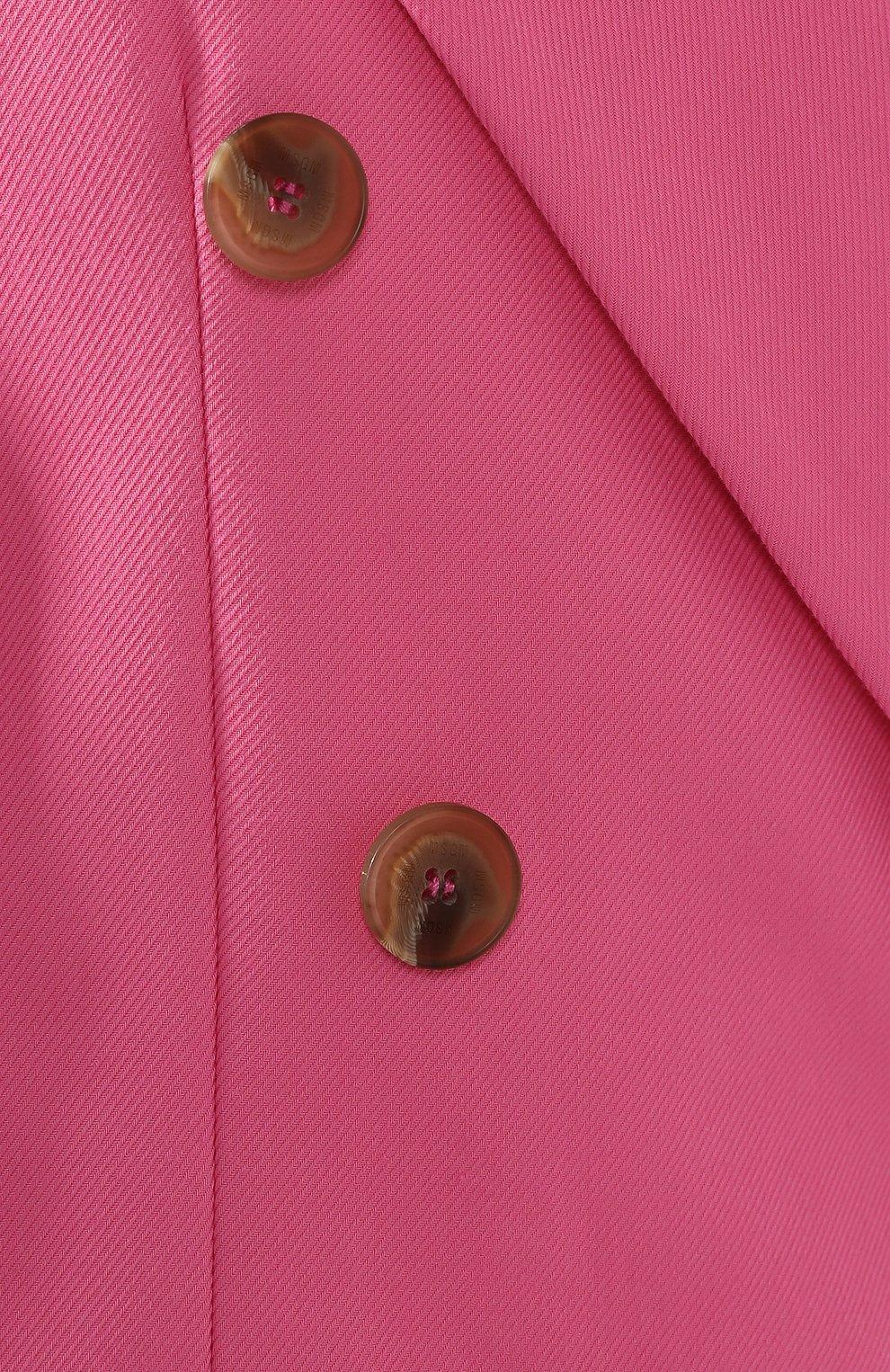 Хлопковый жакет MSGM розовый | Фото №5