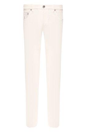 Мужские джинсы прямого кроя BRUNELLO CUCINELLI светло-бежевого цвета, арт. M0Y16J2010 | Фото 1