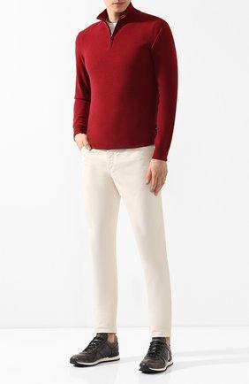 Мужские джинсы прямого кроя BRUNELLO CUCINELLI светло-бежевого цвета, арт. M0Y16J2010 | Фото 2