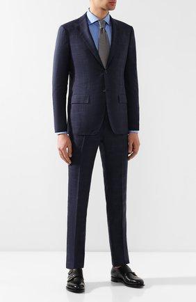 Мужской костюм из смеси кашемира и шерсти KITON темно-синего цвета, арт. UA81K06R27 | Фото 1