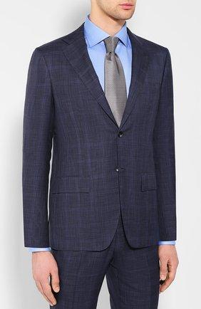 Мужской костюм из смеси кашемира и шерсти KITON темно-синего цвета, арт. UA81K06R27 | Фото 2