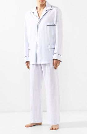 Мужская хлопковая пижама BRIONI голубого цвета, арт. NBP30L/P8030 | Фото 1