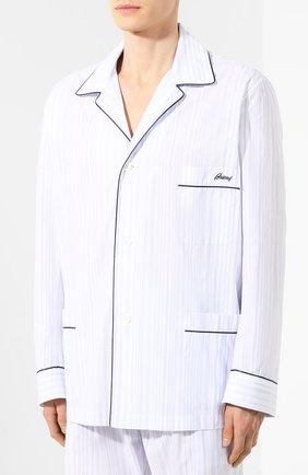 Мужская хлопковая пижама BRIONI голубого цвета, арт. NBP30L/P8030 | Фото 2