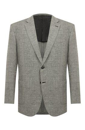 Мужской пиджак из смеси шелка и кашемира BRIONI светло-серого цвета, арт. RG0J0M/P842M/BRUNIC0 | Фото 1